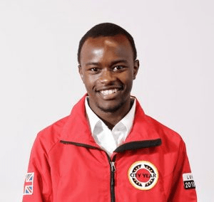 Volunteer mentor in uniform